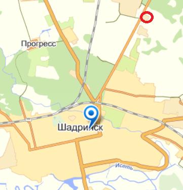 Адрес в Шадринске